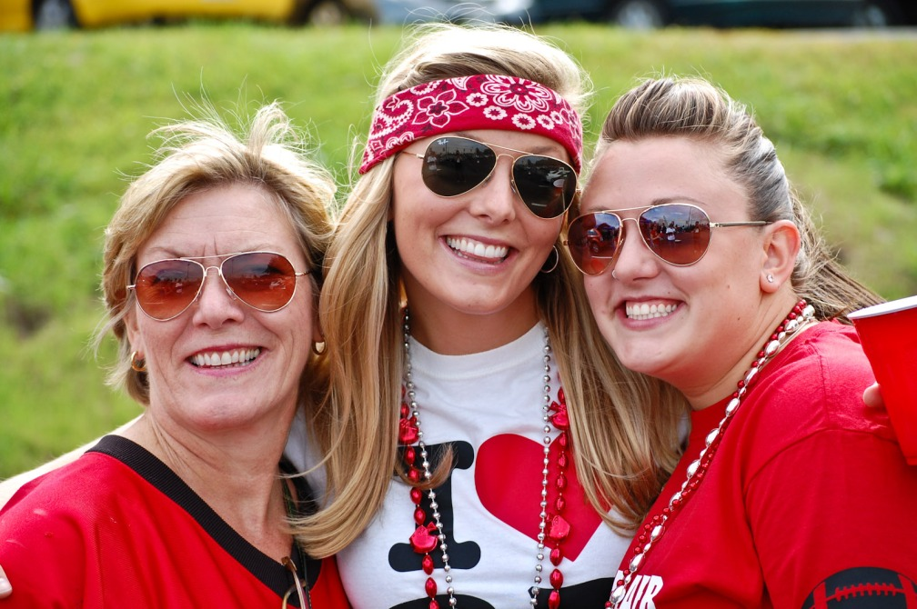 Bev, Ally, and Katy - Tailgate